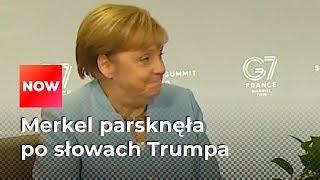 Merkel nie wytrzymała. Parsknęła po słowach Trumpa