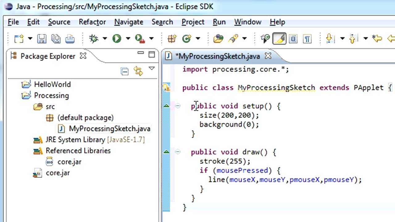 Combining Processing and Eclipse