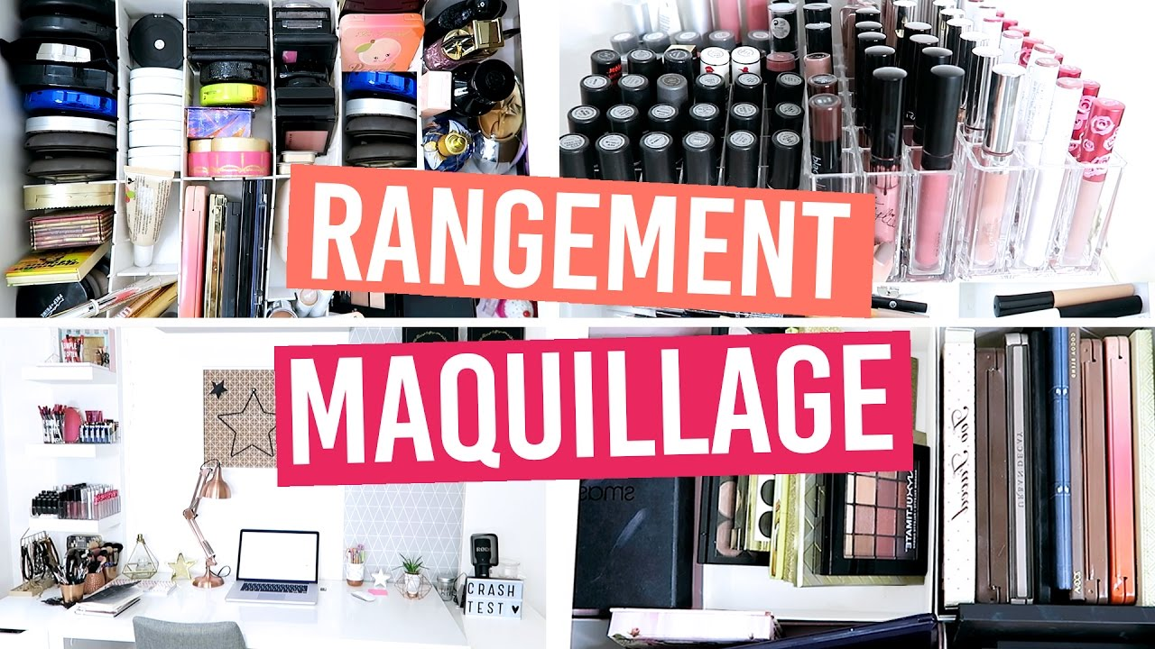 rangement maquillage bureau tour youtube. Black Bedroom Furniture Sets. Home Design Ideas