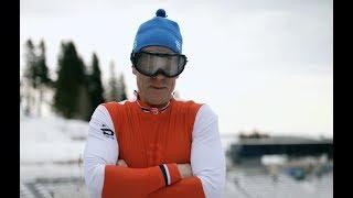 Går skistafett med «fyllebriller» (Senkvelds vinterleker)
