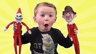 Top 6 Scariest Bad Elf on the Shelf including Zombies, Jason Vorhees and Freddy Kreuger!