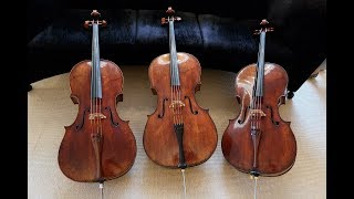 3 STRADIVARI CELLOS !!!! SOUND COMPARISON  ( SUBS EN ESPAÑOL)