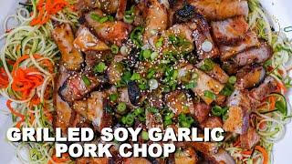 Caramelized Soy Garlic Pork Chop for Summer Grilling