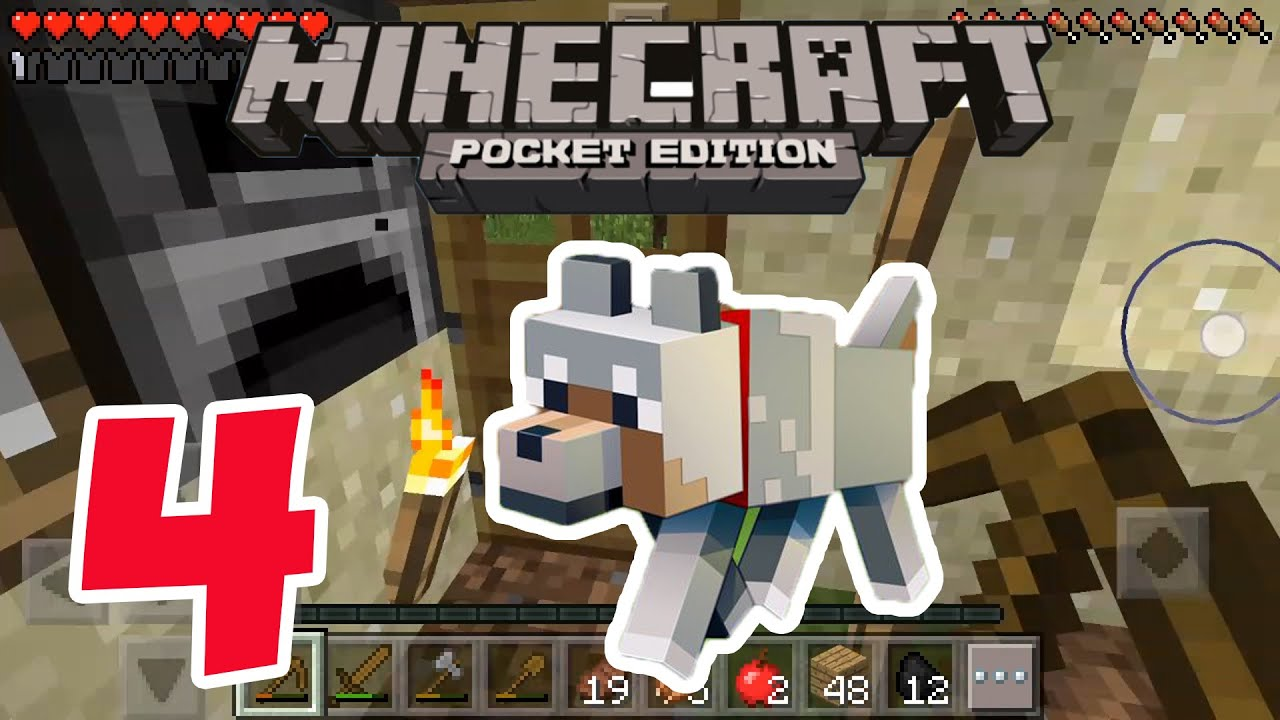 Minecraft PE - Gameplay Part #4 - Survival Mode - Let's Play and Commentary