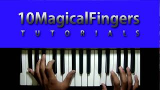 Kal Ho Naa Ho Piano Tutorial (How to play) Chords Advanced Version