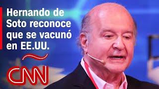 Hernando de Soto se niega a revelar en qué estado de EE.UU. se vacunó