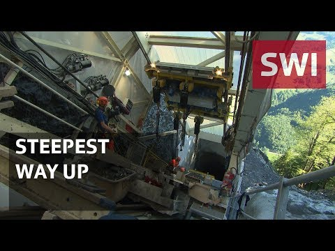 The world's steepest funicular