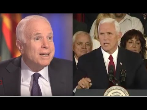 MOMENTS AFTER MCCAIN SAVED OBAMACARE PENCE MARCHED ON STAGE AND TOOK DOWN MCCAIN HIMSELF!