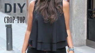 Repeat youtube video DIY Costura: Cómo hacer blusa crop top (patrones gratis)