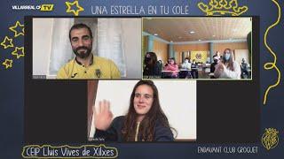 Raúl Albiol y Elena de Toro en 'Una estrella en tu cole'