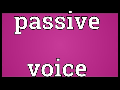 Passive voice Meaning