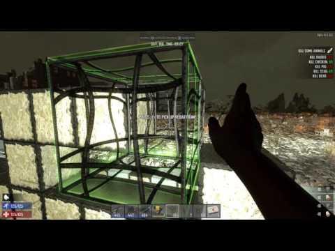 7 Days to Die Base Design Bunker Speed Build Alpha 14
