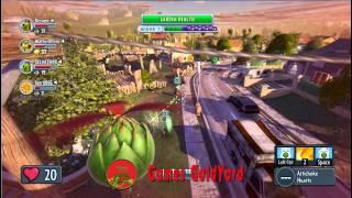 Кактус и его друг летающий дроид Растения против Зомби: Садовая война