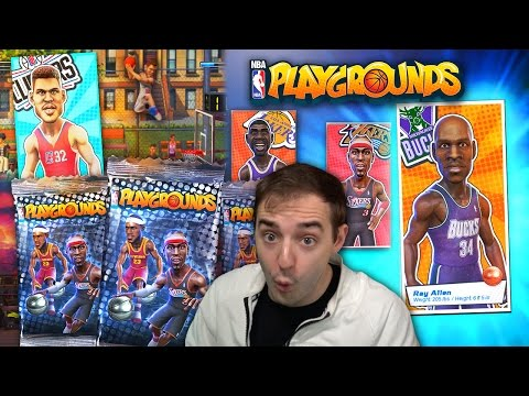NBA PLAYGROUNDS STARTER PACK OPENING, INSANE JAMS, SWEET LEGENDS! SUPER FUN GAME!