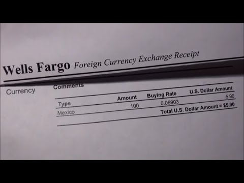 Exchange Foreign Currency for U.S. Dollars - Wells Fargo Bank