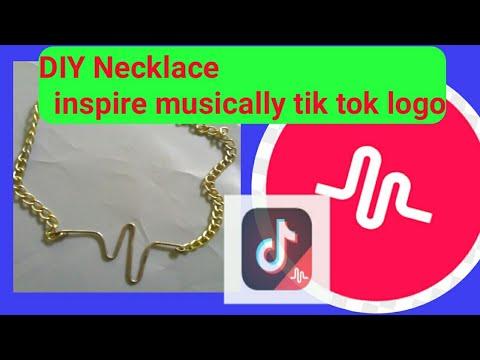 Musically logo inspire necklace    Diy Wire necklace   Diy Brecelet     DIY PAPERCLIP CRAFTS   