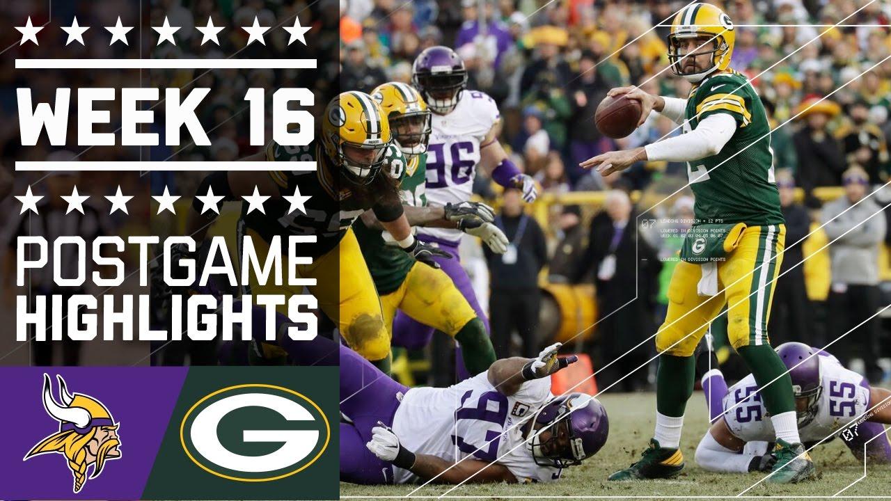 Vikings vs  Packers | NFL Week 16 Game Highlights