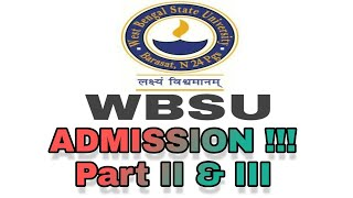 WBSU Registation Process UG and PG video, WBSU Registation