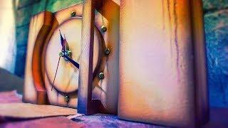 Настольные часы из хлама. Desk clocks from garbage