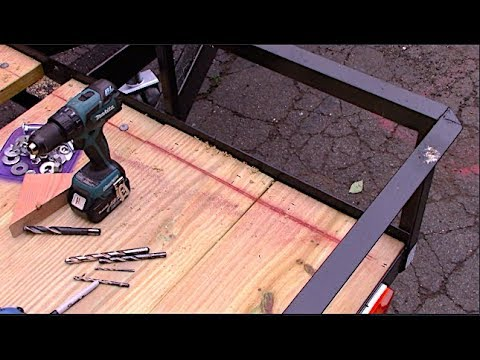 Installing Decking on the Trailer