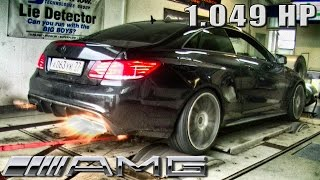 Mercedes E63 AMG Coupe 1049 HP GAD Motors DYNO RUN FLAMES By AutoTopNL