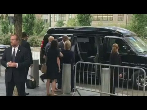 Video shows Hillary Clinton leaving 9/11 event early