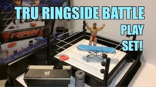 WWE ACTION INSIDER: Ringside Battle Playset! ToysRus Exclusive Mattel Wrestling Figure Ring!