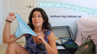 tropical vacation prepare with me! it's travel time.
