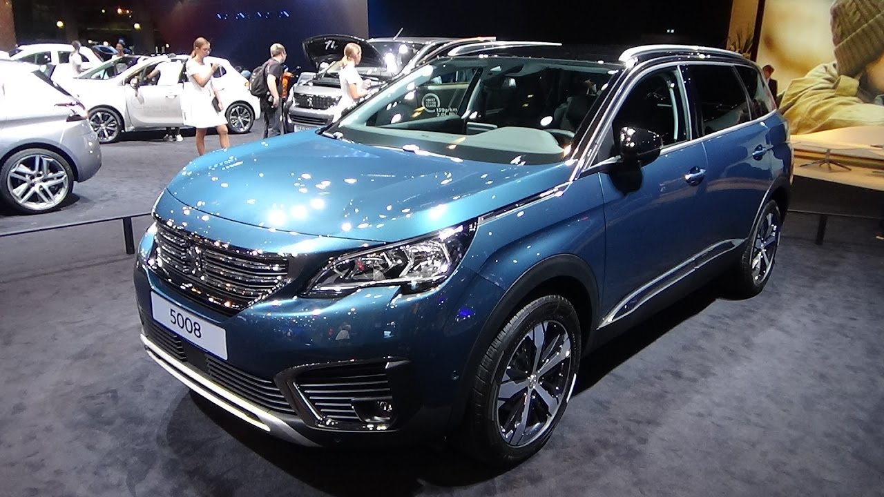 2017 peugeot 5008 exterior and interior paris auto show 2016 youtube. Black Bedroom Furniture Sets. Home Design Ideas