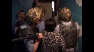 Задержание психа полицией в Киреевске...