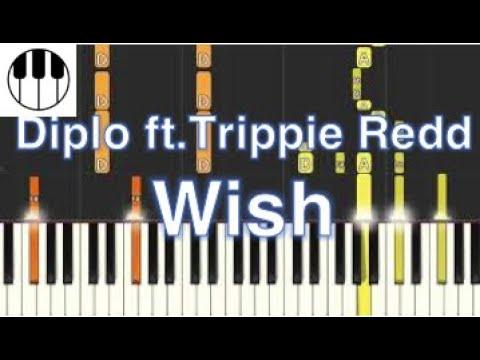 Wish Diplo Ft Trippie Redd Piano Tutorial YouTube