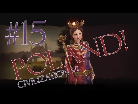 Civilization 6 Gameplay - Poland/Deity - Episode 15: The Great Wall of Units