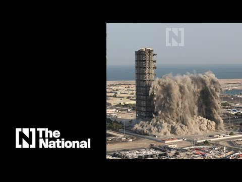 Watch the Mina Plaza controlled demolition