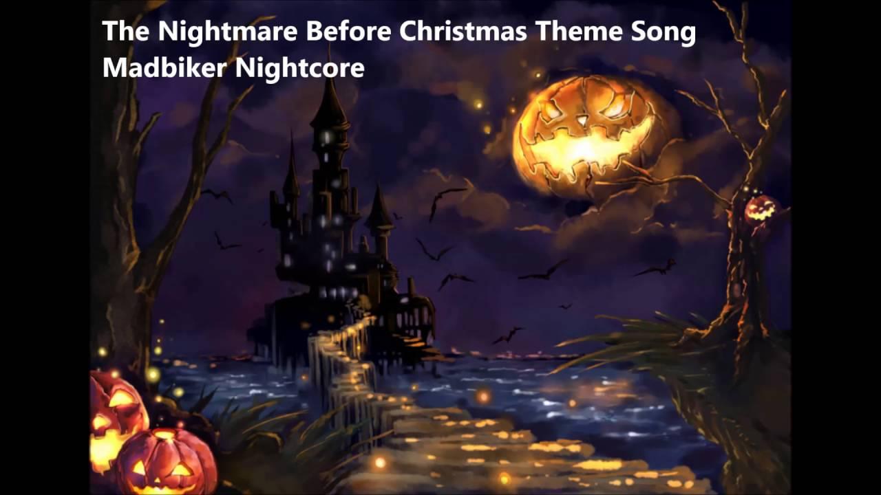 The Nightmare Before Christmas Theme Song - Madbiker Nightcore - YouTube