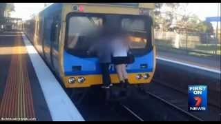 Student Dared To Surf On Melbourne Train