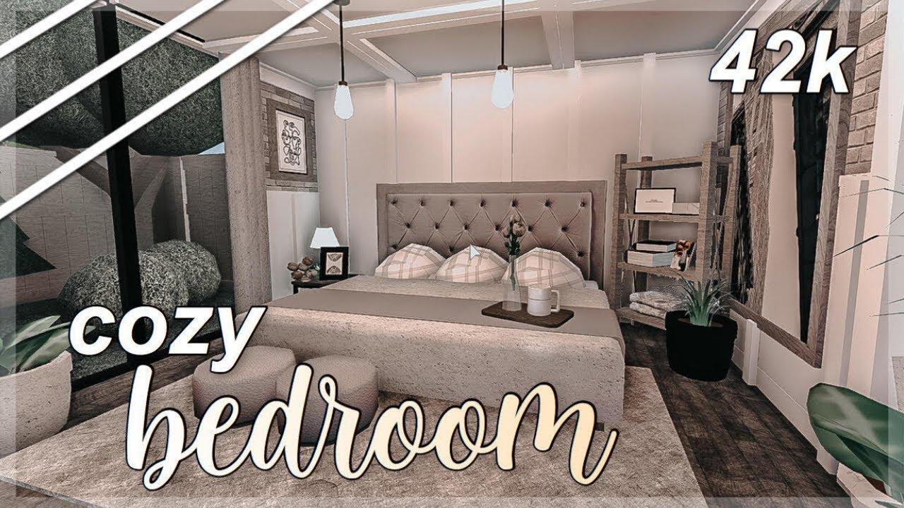 Cozy Bedroom Speedbuild 42k Welcome To Bloxburg