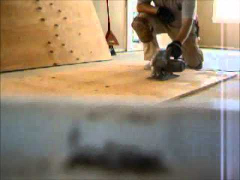 Plywood Subfloor Leveling For Hardwood Or Laminate Flooring Youtube
