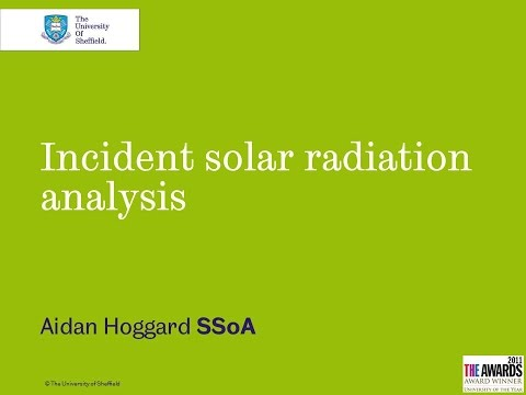 Incident solar radiation analysis