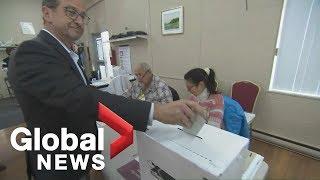 Canada Election: Bloc Québécois' Blanchet votes