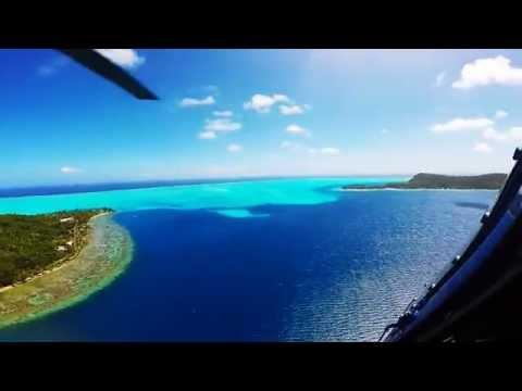 Bora Bora Day 1 (by land & air) - French Polynesia - Helicopter Tour!