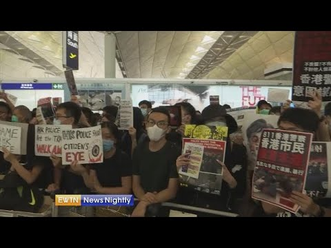 Hong Kong Airport closed for second day due to protests - EWTN News Nightly