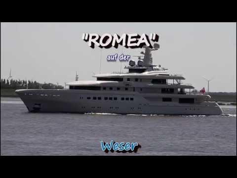 Mega Yacht ROMEA - Weser höhe Brake Unterweser