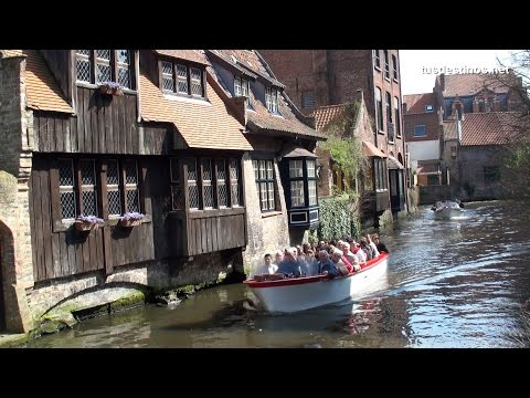 The canals of Bruges, Canales de Brujas - Flanders / Flandes - Belgium Bélgica Tour