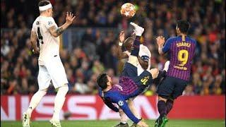 Leo Messi vs Manchester United COMPLETO Doblete del argentino en el camp nou!