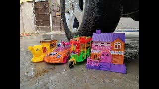Crushing Crunchy & Soft Things by Car! - EXPERIMENT:CARS AND TOYS VS CAR | CAR VS THINGS | CAR VS