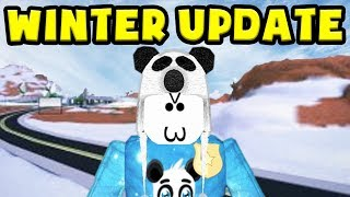 PLAYING THE NEW WINTER UPDATE IN JAILBREAK EARLY! (Roblox)