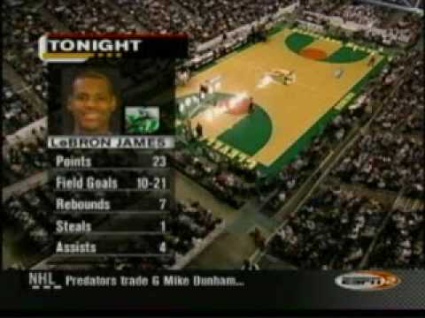 Lebron James High School Game 2nd half ST VINCENT ST MARY OAK HILL ACADEMY 1/4