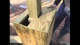 How To Build A Pergola - 15.attaching Plywood Tops