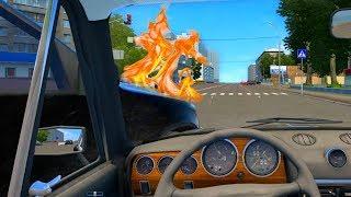 ПОПАЛ В ДТП ПРЯМО НА ЭКЗАМЕНЕ - (CITY CAR DRIVING)