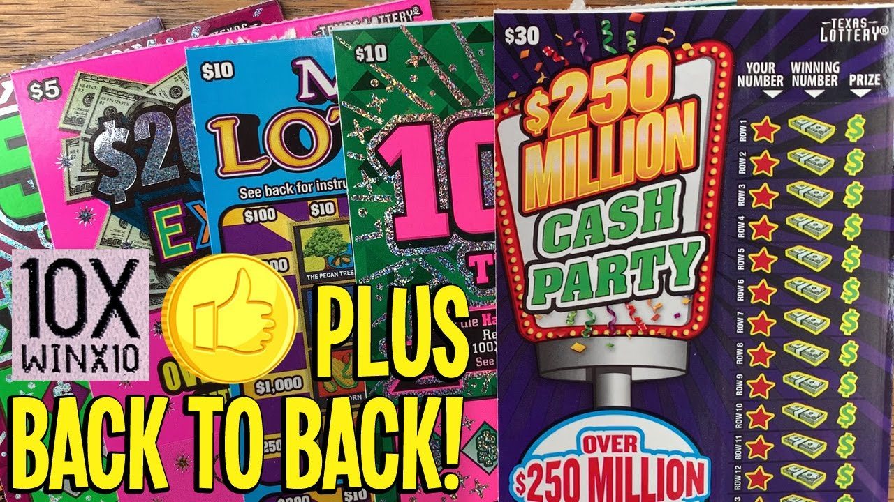 10X + BACK to BACK! 💰 $30 Cash Party + 100X The Cash 💵 $100 TEXAS Lottery Scratch Offs